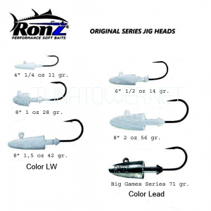 Ronz - Replacement Head 1/4 - 1/2 - 1 - 1,5 - 2 Oz